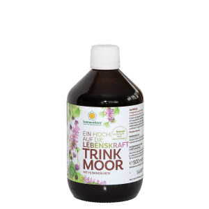 Trinkmoor in der Glasflasche 500 ml